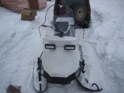 як зробити снігохід з мотоблока