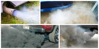 чому димить двигун білим димом і смердить