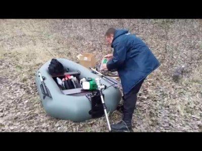 як зробити з триммера човновий мотор